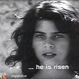 Reposted from @angierichter Happy Resurrection. #pierpaolopasolini #gospelaccordingtomatthew #angel #easter - #regrann