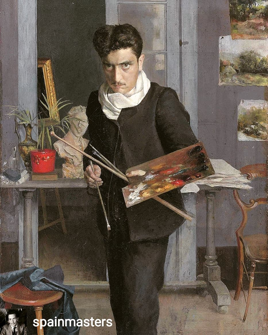 Reposted from @spainmasters Julio Romero de Torres, painter. Young Self portrait. 1898. Private Collection, London••••#spainmasters#spanishartist#historiadelarte#pintoresespañoles#arthistory#julioromerodetorres#selfportrait#modernpainting